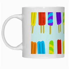 Popsicle Pattern White Mugs