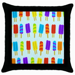 Popsicle Pattern Throw Pillow Case (Black)