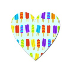 Popsicle Pattern Heart Magnet