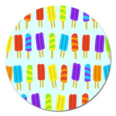 Popsicle Pattern Magnet 5  (round)
