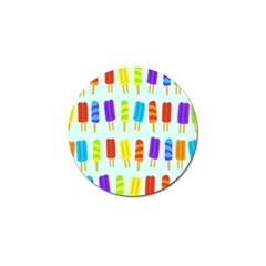Popsicle Pattern Golf Ball Marker