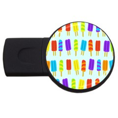 Popsicle Pattern Usb Flash Drive Round (2 Gb)