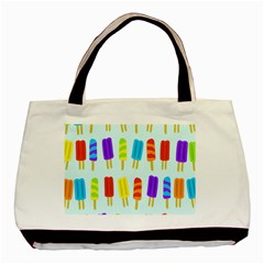 Popsicle Pattern Basic Tote Bag
