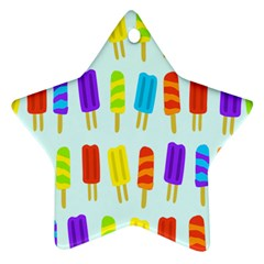 Popsicle Pattern Star Ornament (Two Sides)