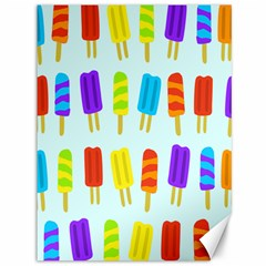 Popsicle Pattern Canvas 36  X 48