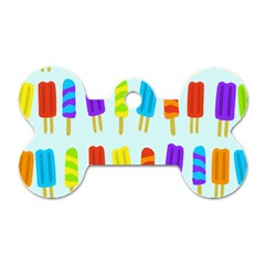 Popsicle Pattern Dog Tag Bone (two Sides)