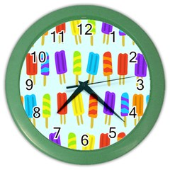 Popsicle Pattern Color Wall Clocks