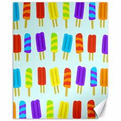 Popsicle Pattern Canvas 11  X 14