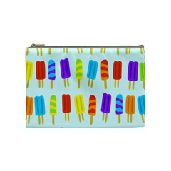 Popsicle Pattern Cosmetic Bag (medium)