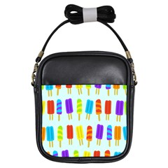 Popsicle Pattern Girls Sling Bags