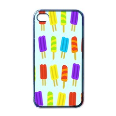 Popsicle Pattern Apple iPhone 4 Case (Black)