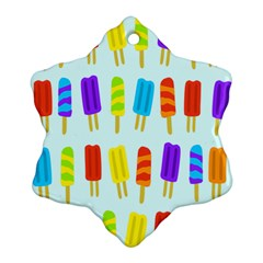 Popsicle Pattern Snowflake Ornament (Two Sides)