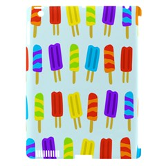 Popsicle Pattern Apple iPad 3/4 Hardshell Case (Compatible with Smart Cover)