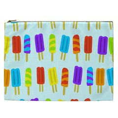 Popsicle Pattern Cosmetic Bag (XXL)