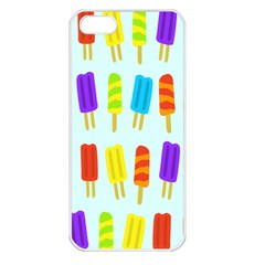 Popsicle Pattern Apple Iphone 5 Seamless Case (white)
