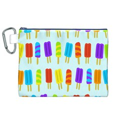 Popsicle Pattern Canvas Cosmetic Bag (xl)