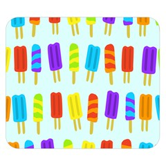 Popsicle Pattern Double Sided Flano Blanket (small)