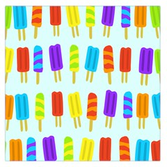 Popsicle Pattern Large Satin Scarf (square)