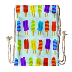 Popsicle Pattern Drawstring Bag (large)