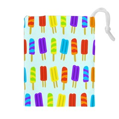 Popsicle Pattern Drawstring Pouches (extra Large)