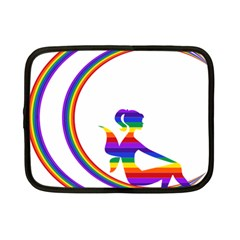 Rainbow Fairy Relaxing On The Rainbow Crescent Moon Netbook Case (small)