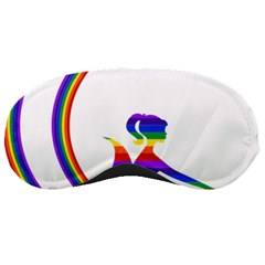 Rainbow Fairy Relaxing On The Rainbow Crescent Moon Sleeping Masks