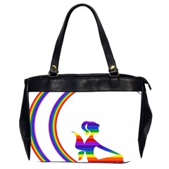 Rainbow Fairy Relaxing On The Rainbow Crescent Moon Office Handbags (2 Sides)