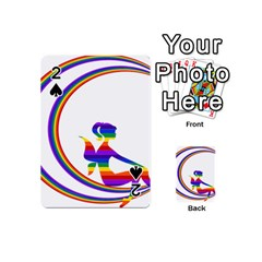 Rainbow Fairy Relaxing On The Rainbow Crescent Moon Playing Cards 54 (mini)