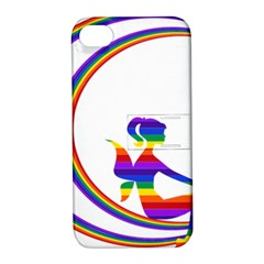 Rainbow Fairy Relaxing On The Rainbow Crescent Moon Apple Iphone 4/4s Hardshell Case With Stand