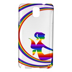 Rainbow Fairy Relaxing On The Rainbow Crescent Moon Samsung Galaxy Note 3 N9005 Hardshell Case