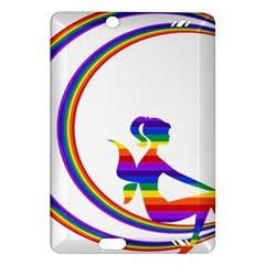 Rainbow Fairy Relaxing On The Rainbow Crescent Moon Amazon Kindle Fire Hd (2013) Hardshell Case