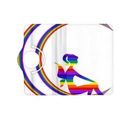 Rainbow Fairy Relaxing On The Rainbow Crescent Moon Kindle Fire Hd (2013) Flip 360 Case