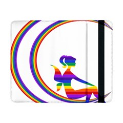 Rainbow Fairy Relaxing On The Rainbow Crescent Moon Samsung Galaxy Tab Pro 8 4  Flip Case