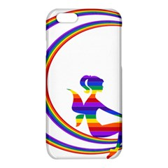 Rainbow Fairy Relaxing On The Rainbow Crescent Moon iPhone 6/6S TPU Case
