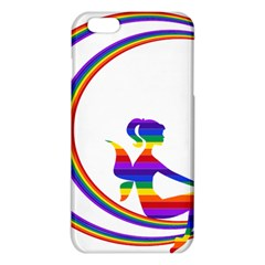 Rainbow Fairy Relaxing On The Rainbow Crescent Moon Iphone 6 Plus/6s Plus Tpu Case