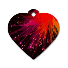Big Bang Dog Tag Heart (two Sides)