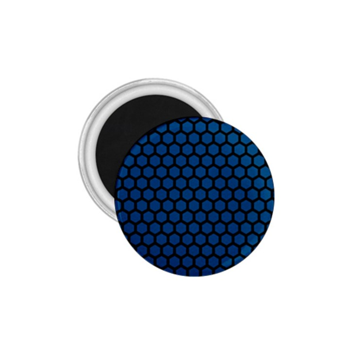 Blue Dark Navy Cobalt Royal Tardis Honeycomb Hexagon 1.75  Magnets