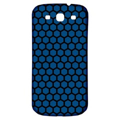 Blue Dark Navy Cobalt Royal Tardis Honeycomb Hexagon Samsung Galaxy S3 S Iii Classic Hardshell Back Case