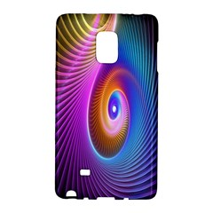Abstract Fractal Bright Hole Wave Chevron Gold Purple Blue Green Galaxy Note Edge
