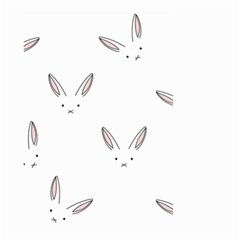 Bunny Line Rabbit Face Animals White Pink Small Garden Flag (two Sides)