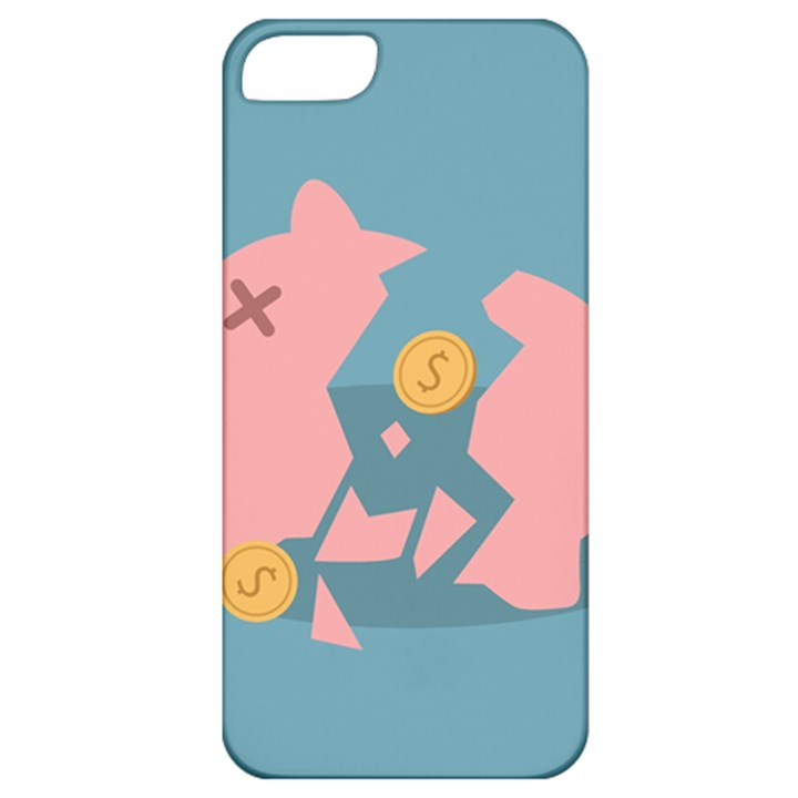 Coins Pink Coins Piggy Bank Dollars Money Tubes Apple iPhone 5 Classic Hardshell Case