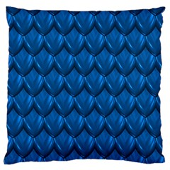 Blue Dragon Snakeskin Skin Snake Wave Chefron Standard Flano Cushion Case (two Sides)