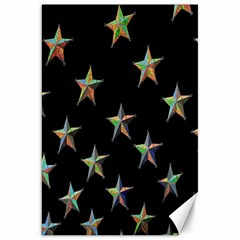 Colorful Gold Star Christmas Canvas 20  x 30