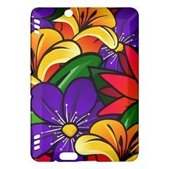 Bright Flowers Floral Sunflower Purple Orange Greeb Red Star Kindle Fire Hdx Hardshell Case