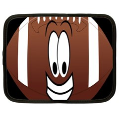 Happy Football Clipart Excellent Illustration Face Netbook Case (xl)