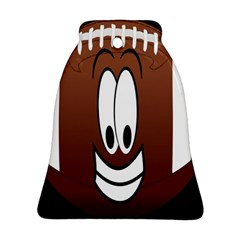 Happy Football Clipart Excellent Illustration Face Bell Ornament (Two Sides)