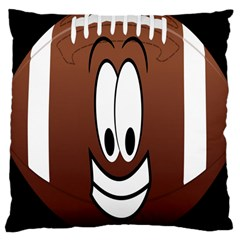 Happy Football Clipart Excellent Illustration Face Large Cushion Case (two Sides)