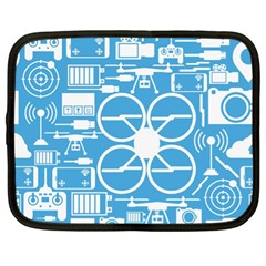 Drones Registration Equipment Game Circle Blue White Focus Netbook Case (xl)