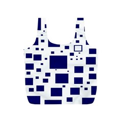 Illustrated Blue Squares Full Print Recycle Bags (s)