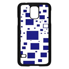 Illustrated Blue Squares Samsung Galaxy S5 Case (black)